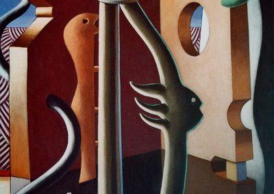 2009-Jardí amb esfinx-100x81-Acrílic-tela